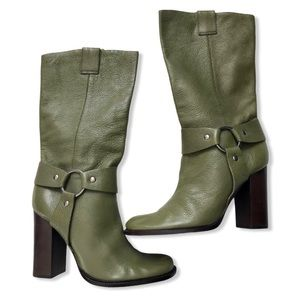 Vince Camuto 100% Leather Green Mid Calf Boots 7.5